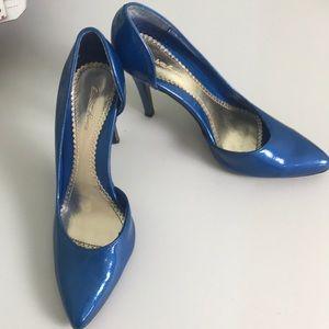 Charlotte Russe blue heels Size 8
